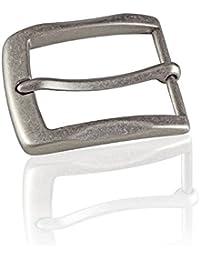 7e87482d262270 Gürtelschnalle Buckle 40mm Metall Silber Antik - Buckle Gray -  Dornschliesse Für Gürtel Mit 4cm Breite - Silberfarben…