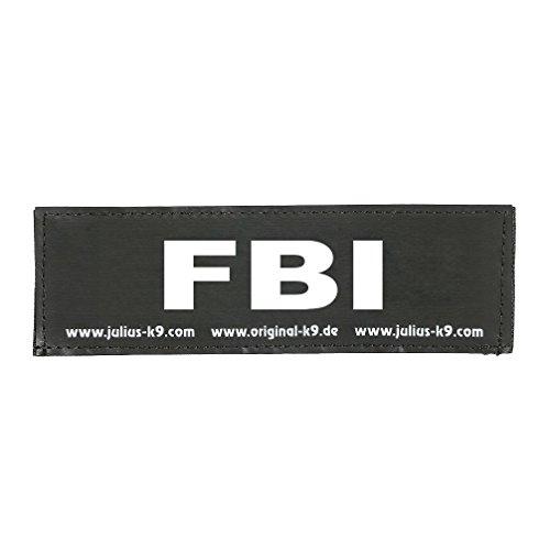 Julius-K9 162LR-K-35794 Klettaufschrift, FBI, klein, schwarz