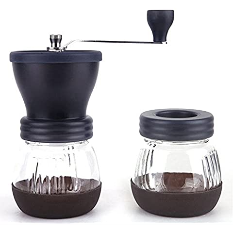MyArmor manuale Coffee Bean Grinder Mill con un vano per vetro a chiusura ermetica
