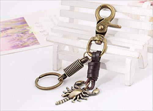Metall-Schlüsselanhänger Weinlese-Leder-Schlüsselanhänger Lederhose Kette Scorpion Schlüssel Anhänger