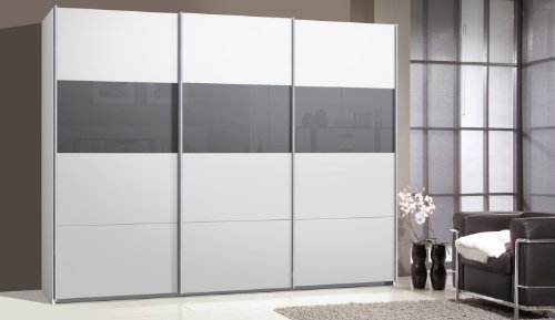 schwebet renschrank ca 300 cm in wei mit glas. Black Bedroom Furniture Sets. Home Design Ideas