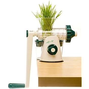 Lexen Healthy Juicer Extracteur de Jus d'Herbe Manuel Blanc