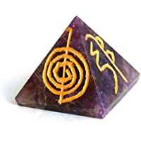 Reiki heilende Energie geladen Krystal Gifts UK Amethyst Gravur Reiki Kristall Pyramide (ca. 2cm) inkl. Kristall... preisvergleich bei billige-tabletten.eu