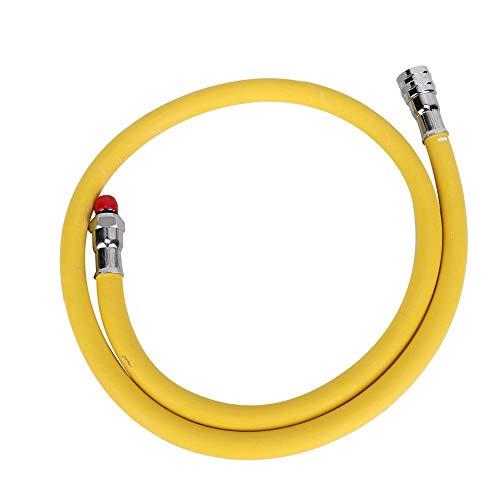 Focket Atemreglerschlauch, 28-Zoll-Nylon-Leichtgewicht-Atemreglerschlauch für das Tauchen mit niedrigem Druck, 2. Stufe, ideal für Atemregler der zweiten Stufe(Gelb) -