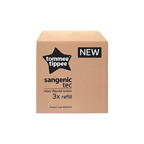 Tommee Tippee Tec Nachfüllkassetten für Sangenic Windeltwister, 3er-Pack, Frustfreie Verpackung