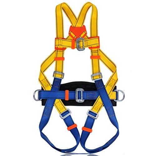 So8ooa corda all'aperto cinture di sicurezza per imbracature per alpinismo cintura di sicurezza per funamboli regolabili. cintura di sicurezza regolabile multifunzione