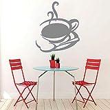 Adesivo Adesivo Vinile Adesivo Adesivo Cucina Murale Tazza da tè Tazza da caffè Negozio Decorazioni per la casa Adesivo da parete Bagno Poster G 42 * 49cm