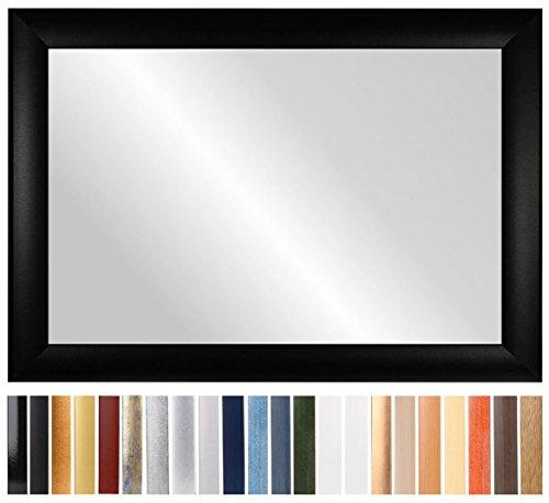 CAPRY 100 x 110 cm espejo a medida con marco, marco color: Wengué, hecho a mano a medida Marco de espejo inclusive espejo y pared posterior estable, listón de marco: 50 mm de ancho y 24 mm de altura, Medidas externas del marco del espejo: 1000 mm x 1100 mm