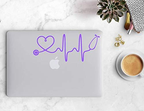 Cycay Heartbeat Stethoskop, Krankenschwester, Autoaufkleber, Stethoskop-Aufkleber, Stethoskop-Aufkleber, Herzschlag-Stethoskop-Aufkleber, Autoaufkleber, Laptop-Aufkleber, Krankenschwester-Aufkleber -
