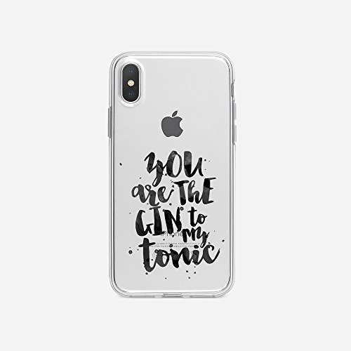 licaso Apple iPhone X Handyhülle Smartphone Apple Case aus TPU mit You Are The Gin to My Tonic Love Print Motiv Slim Design Transparent Cover Schutz Hülle Protector Soft Aufdruck Lustig Funny Druck
