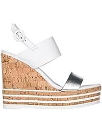 C8868 sandalo donna HOGAN H257 scarpa fasce incrociate beige shoe woman [36.5]