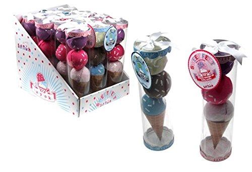 Erstlingset : 3 paar Söckchen in Eiskugelform in Klarsichtverpackung Junge oder Mädchen (Junge (Costume Idee De Paar)