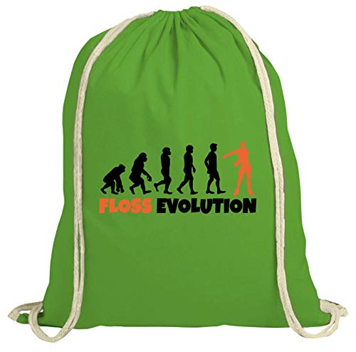 eab1f2dd829c4 ShirtStreet Gamer Hype natur Turnbeutel Rucksack Gymsac Floss Evolution  New
