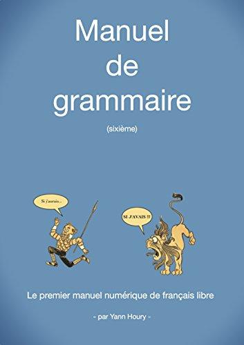 Couverture du livre Manuel de grammaire: Sixième