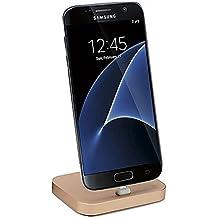 Supporto Telefono, TUOYA Mirco USB Dock Andriod : Supporto Smartphone Per HUAWEI, Samsung Note 4, Note 5, Note 6, S3 S4 S5 S6 S7 Accessori, Scrivania, Altri Smartphone (Oro)