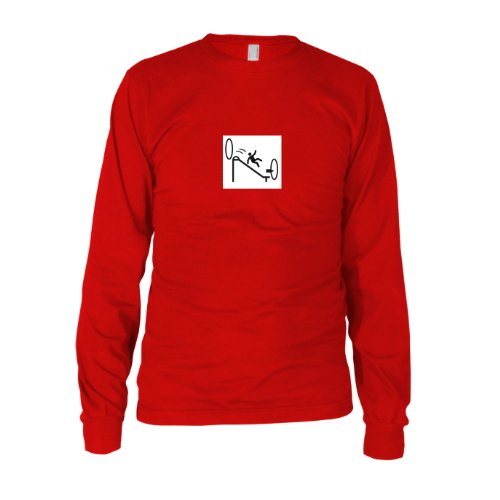 Portal Endless Slide - Herren Langarm T-Shirt, Größe: XXL, Farbe: - Glados Cosplay Kostüm