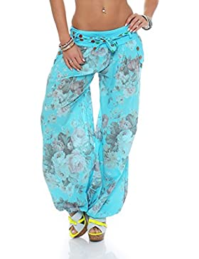 malito Bombacho diseño Floral Boyfriend Aladin Harem Pantalón Sudadera Baggy Yoga 3418A Mujer Talla Única