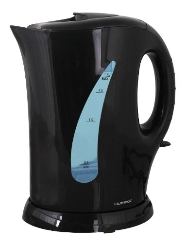 Lloytron Cordless Kettle, 1.7 Litre, 2 Kilowatt, Black