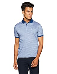 blackberrys Mens Printed Slim Fit T-Shirt (ETCC0432U3MS18FL40_Grape Blue)