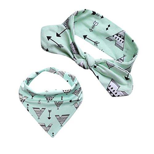kingko® Männer und Frauen Baby Speichel Handtuch 2 Sätze von Kopf Reifen Dreieck gesetzt C