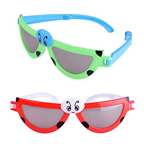 tailor13me Faltbare Kinder Kinder Sommer augenschutz Sonnencreme Spielzeug Sonnenbrille mädchen Jungen Brille niedlichen Kind Brillen Shades Brille Zufällige Farbe