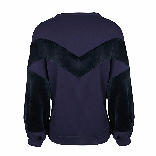LILICAT -  Felpa  - Casual - Maniche lunghe  - Donna Purple