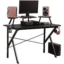 soges Gaming Desk 120×60×75.5cm Escritorio de la computadora Estación de Trabajo