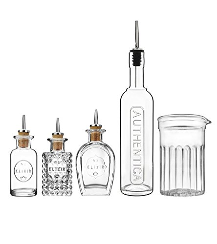 Bormioli Luigi: Set Mixology Luxus Bar & Cocktail Macht Geräte 5 PCS -