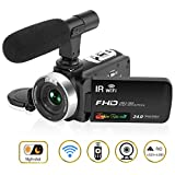 Camcorder Camera Video Camera HD 1080P 30FPS 24.0MP 3'' LCD Touch Screen Night