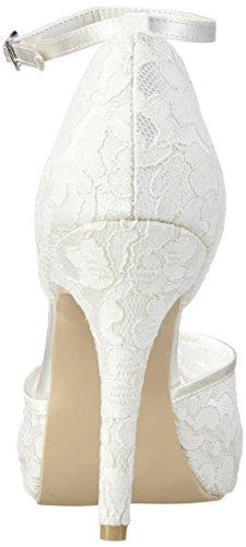 Menbur WeddingDenise - Scarpe con Tacco Donna Bianco (Elfenbein (Ivory))