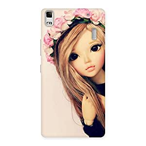 Cute Pink Rose Doll Back Case Cover for Lenovo K3 Note