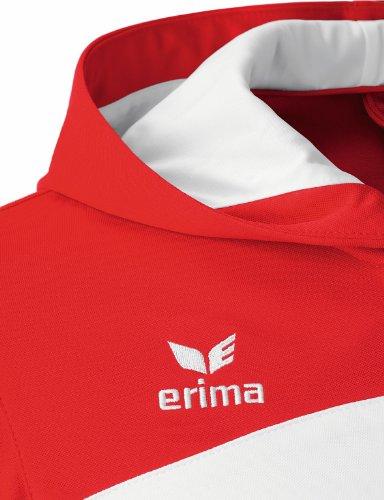 erima Erwachsene Jacke Club 1900 Trainingsjacke mit Kapuze weiß/rot