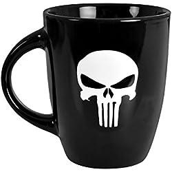 PUNISHER Cup Skull Logo 250 ml Marvel Elvenwald Ceramic black