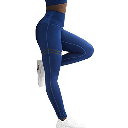 Damen Leggings Contrast Leggins lang blickdicht