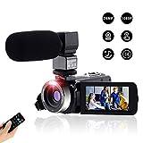 """Videocamera Digitale Full Hd Fotocamera Compatta 1080P 24M,Fambrow Macchina Fotografica Zoom Digitale16X Visione Notturna IR Webcam Camcorder con Telecomando e Microfono Touchscreen da 3.0"""""""