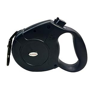 Pugga - Laisse pour Chien Rétractable Ruban Solide Moyens et Gros Chiens 5m Jusqu'à 50kg ou 8m Jusqu'à 40kg en Nylon Extensible Dressage Enrouleur Jogging Anti-traction