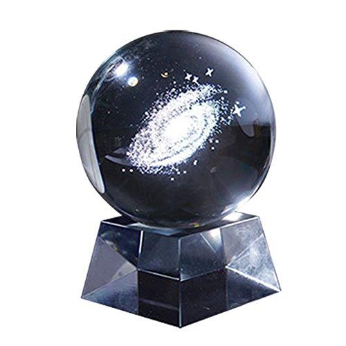 Galaxy Kristallkugel mit Kristallständer, LED-Lampe, Nachtlichter, Magische Kugel, Dekoration für Zuhause, Party und Show-Geschenk, Multi, LED Lamp ()