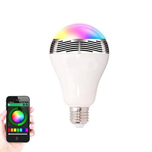 Bluetooth Wireless Lautsprecher LED Leuchtmittel Spirale E27/B22Lampe gesteuert werden kann mit buntes Licht und Musik (Klassische Elektrische Reichweite)