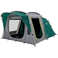 Coleman Tent Oak Canyon 4, 4 man tent with BlackOut Bedroom Technology, Festival Essential, 2 bedroom Family Tent, 100% waterproof Camping Tent with sewn in groundsheet