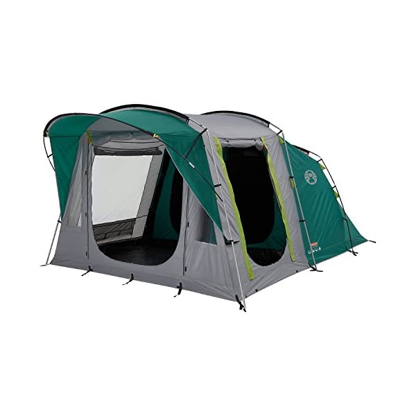 Coleman Tent Oak Canyon 4, 4 Man Tent with BlackOut Bedroom Technology, Festival Essential, 2 Bedroom Family Tent, 100% Waterproof Camping Tent 1