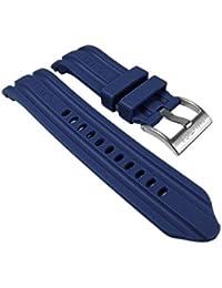 Nautica Ersatzband Uhrenarmband Kautschuk Band Dunkelblau 24mm A15578G für BFD100 / 50 mm