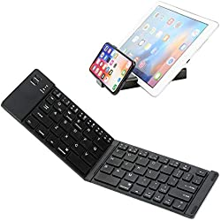 Clavier Bluetooth 3.0 pliable, clavier portable ultra-plat IKOS [Layout US QWERTY] pour iOS / Windows / Android: iPhone x 8 7, Samsung, iPad / Pro, Smartphone, tablettes