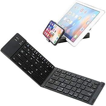 5e2087e0f22 IKOS Portable Foldable Bluetooth Keyboard Compatible for iPhone X 8 7 6s  Plus iPad Air Pro Mini 234 iPod Mac (Black)
