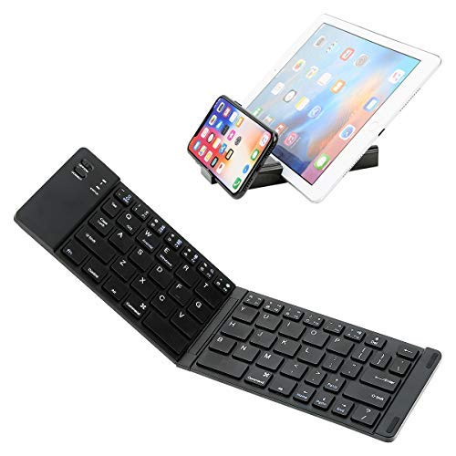 Tastiera Bluetooth IKOS Mini portatile pieghevole piccolo ultra sottile QWERTY Layout per iPhone iPad Air Pro iOS Android Windows Smartphone