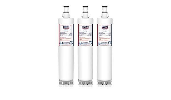 4 x EcoAqua Frigo Ghiaccio /& Acqua Filtro di ricambio per WPRO USC009 481281718406
