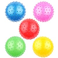 AGLKH Soft Squeeze Bouncing Fidget Development Sensory Educational Toy Inflatable Rubber Ball for Children Game Gift 16cm,5pcs