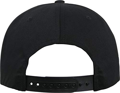 Imagen de flexfit organic cotton snapback cap, unisex adulto, 6089oc, negro, talla única alternativa