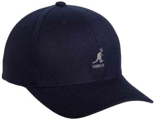 kangol Herren Baseball Cap Wool Flexfit Baseball, Gr. Large (Herstellergröße:Large/X-Large), Blau