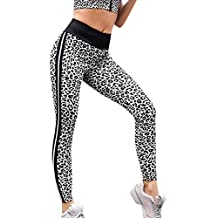 a5b7abaa15be Femmes Taille Haute Yoga Legging Running Pantalons de Sport Pantalon imprimé  Ailes léopard