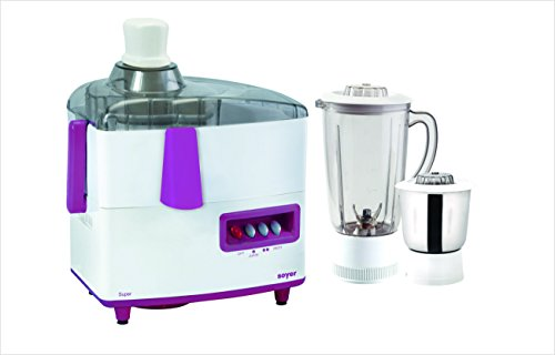Soyer Jm111 450-watt Super Series Juicer Mixer Grinder (white/purple)